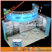 carrinho de exposição de treliça de alumínio e acrílico que é portátil e modular feito na china