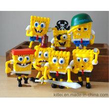 Nova spongebob squarepants série brinquedos de plástico