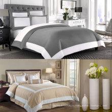 Белый и отель серо-коричневый одеяло одеяло Обложка постельные принадлежности набор 6шт (DPFB8086)