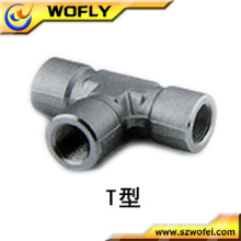 different types of connector 304 stainless steel t connector
