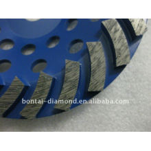 diamond abrasive grinding and cutting wheel for concrete floor