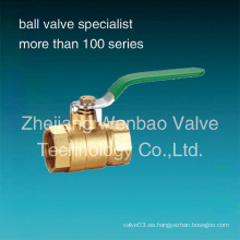 Válvula de bola de latón roscada hembra 2PC Fabricante