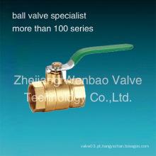 Válvula de esfera de bronze fêmea 2PC fabricante