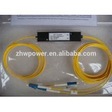 High quality ABS/Cassette/taper box type FBT splitter,1 2 1x2 1*2 LC UPC/PC fiber optic splitter/coupler ,single mode 9/125