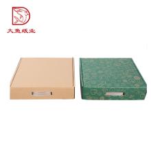 Boîte d'emballage en papier carré recyclable