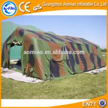 Tienda de campaña inflable grande al aire libre del césped, venta militar inflable de la tienda de campaña