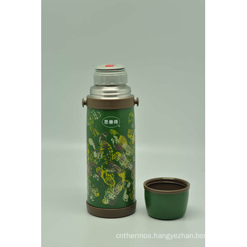 High Quality 304 Stainless Steel Double Wall Vacuum Flask Svf-1000e Green