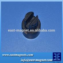 Imán de ferrita polos múltiples para instrumentos eléctricos / anillo anisotrópico imán de ferrita fabricante