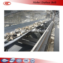 DHT-133 fire resistant rubber coated belt conveyor for export
