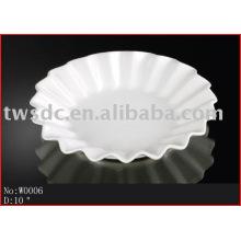 White porcelain dinnerware/plate