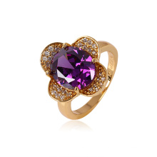 Xuping Fashion Flower Ring avec plaqué or 18 carats