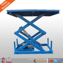 Barato CE fijo doble plataforma de elevación de coche de tijera para silla de ruedas