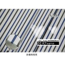 Carvão vegetal/Navy listras macio fio tingido tela da camisa