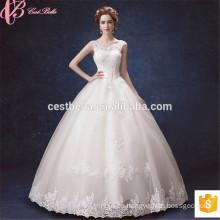 Lace Applique Amor Correa ajustable Robe De Mariee Novia vestido de novia sexy vestido de novia 2017