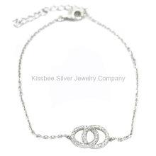 Moda jóias de prata 925, jóias de bronze, pulseira de corrente (KT3035)