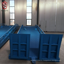 hydraulic mobile loading yard ramp for trucks