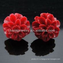 Серьги Nutral corol Красная роза с цветочными узорами 2013 EF-017