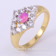 anillo de dedo de carburo al por mayor para mujeres con chapado en doble color joyas de rodio plateado es su buena elección