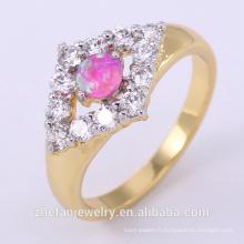 En gros carbure doigt anneau pour les femmes avec double placage de couleur bijoux plaqué rhodium est votre bonne sélection