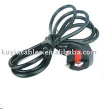 Universal Reino Unido 3-Prong laptop uk cable de alimentación con fusible de 6 pies 1,8 m