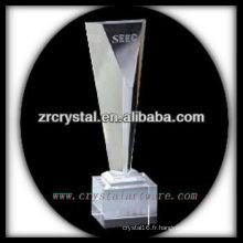 design attrayant blanc trophée en cristal X049