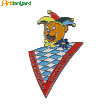 Custom Zinc Alloy Metal Badge För Souvenir