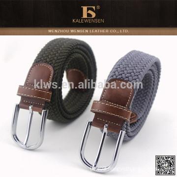 Leisure hottest knit high quality western man fabric belt