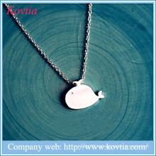 Симпатичные китовые подвески ожерелье стерлингов ленты 925 ювелирных девочек и животных ожерелье