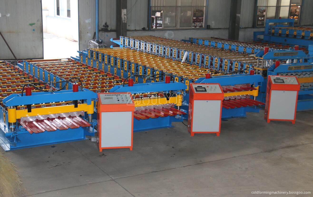 Double Layer Profile Roll Forming Machine