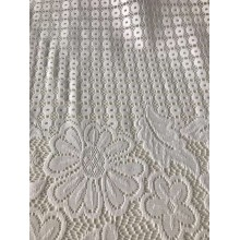 Polyester Lace Fabric Scallopped Edge