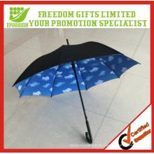 Única y Fashional Stryle paraguas de calidad superior nube impresa en el interior