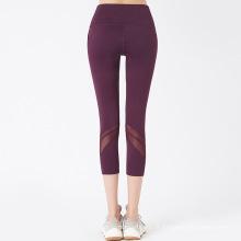 Cintura alta meados de panturrilha Legging Yoga Pant