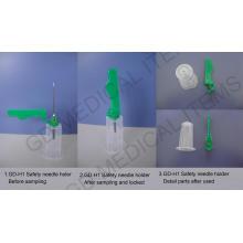 Suporte de agulha médica com tampa de segurança