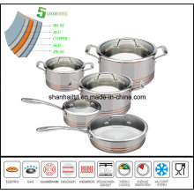 5ply Copper Core All-Clad Body 10PCS Cookware Set Kitchenware