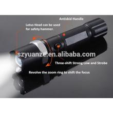 Lampe torche à LED à trois vitesses rechargeable à LED