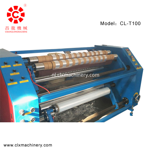 high speed stretch film slitting machine