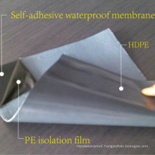PE/HDPE/ EVA Film Self Adhesive Modified Bitumen Garage Waterproof Membrane (1.2mm /1.5mm /2.0mm /3.0mm /4.0mm)