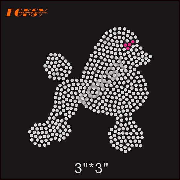 Bling Cute Little Dog Hot Fix disegni strass
