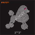Bling Cute Little Dog Hot Fix Rhinestone Designs