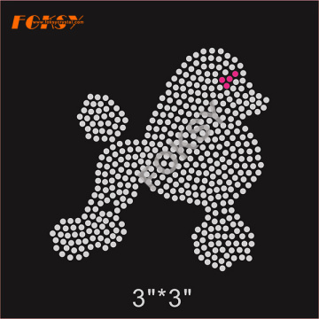 Bling mignon petit chien hot fix strass dessins