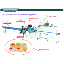 Swf-590 Pudding and Jelly Cup Automatic Shrink Packaging Machine