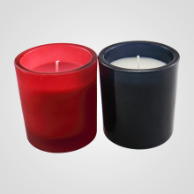 Jualan Hot Black And Red Glass Jar Lilin