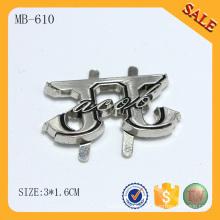 MB610 Accesorio de la bolsa de metal plateado