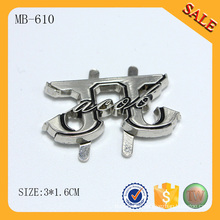 MB610 Silver metal bag accessory cheap and popular nameplate