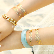 Yincai latest body jewelry Temporary tattos (gold series)