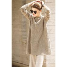 Women′s Cashmere Sweater Round Neck 16brdw008