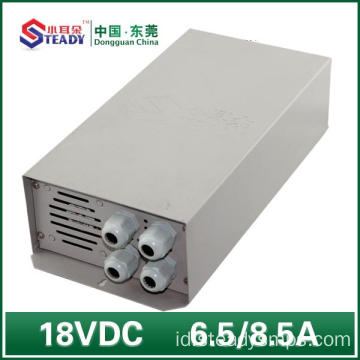 18VDC Outdoor Power Supply Waterproof 6.5A 8.5A