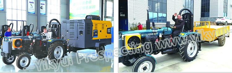 200s 200m portable tractor type water well drilling rig 0