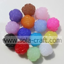 Charm&Lovely Jelly Acrylic Plastic Fashion Bead With Rose Shape