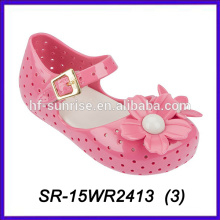 Rosa Blütenblatt schuhe Kinder Kinder pvc Schuhe Melissa Gelee Bohnen Schuhe